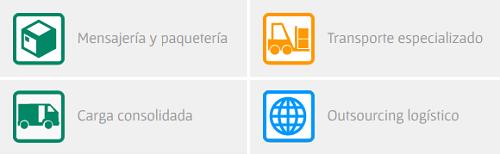 servicios de paqueteria y mensajeria